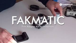 Load 35mm film into Instamatic cameras with FAKMATIC