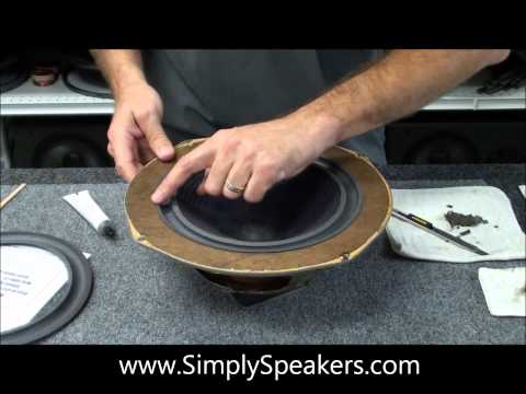 Advent Woofer Speaker Repair and Foam Edge Replacement. Dahlquist DQ Woofer Repair