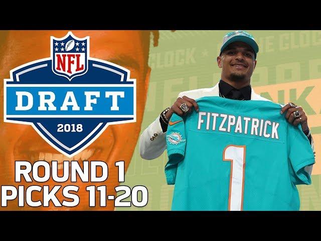Picks 11-20 More Trades,  A lot of Defense!  2018 NFL Draft