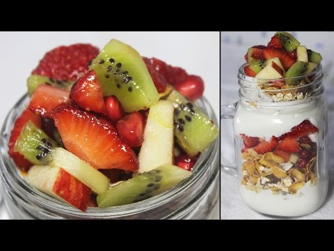 Healthy Breakfast Parfait | Fruits, Oats & Yogurt Parfait | Easy Breakfast Recipe