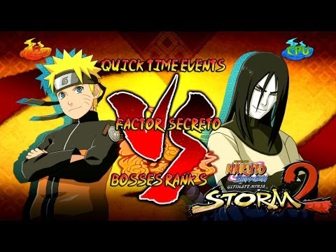 Naruto Shippuden Ultimate Ninja Storm 2 Boss 4 Orochimaru Rank S | Naruto Vs Orochimaru Secreto video