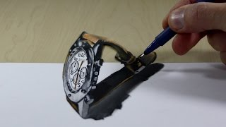 3D Trick Art on Paper watch