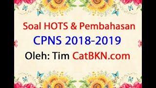 Soal TIU CPNS 2018 2019 Pdf Full Pembahasan dan Kunci Jawaban Hots