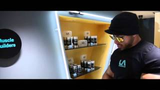 Active Channel presenter Zee Shredded Diesel visits the brand new LA Muscle Shop