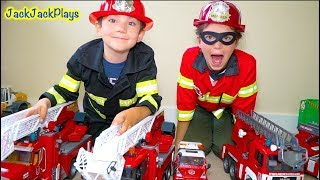 Pretend Play Cops & Robbers with Firefighter + Police Costumes +Rock Tumbler