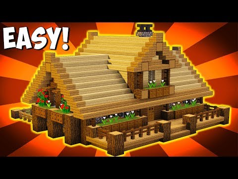 MINECRAFT: How to build big wooden house | Big survival house tutorial | PS3/PS4/XBOX360/MCPE/PC