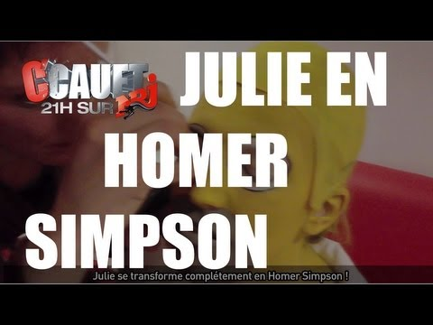 Julie se transforme completement en Homer Simpson - C'Cauet sur NRJ
