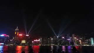 The Victoria Harbour scenic view Symphony of lights HongKong