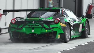 Ferrari 458 GT3 Flying By On The Main Straight of Tazio Nuvolari Circuit