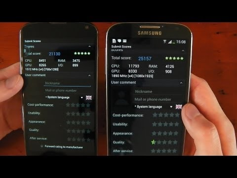 Custom Google Nexus 4  vs. Samsung Galaxy S4