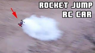 ROCKET JUMP RC CAR - 60kg thrust, 2kg car - Vertical jump 10m sand WALL (Doesn't end well) -Part 3