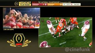 2016 National Championship Film Room Telecast: #2 Alabama vs #1 Clemson Full Game 1080p30