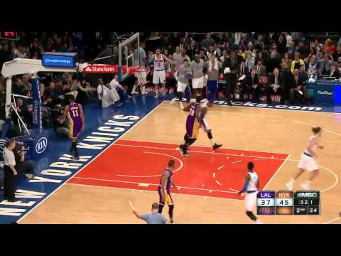 Los Angeles Lakers vs New York Knicks | February 1, 2015 | NBA 2014-15 Season