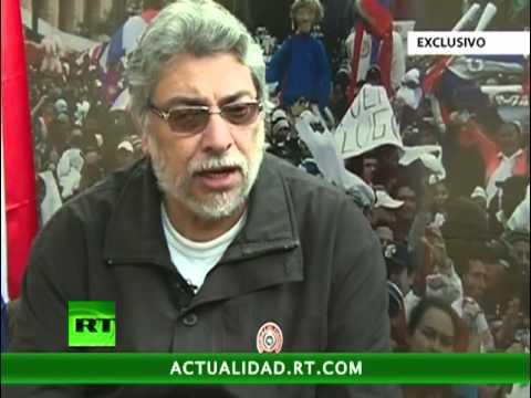 La primera entrevista exclusiva de RT con Fernando Lugo tras el golpe de Estado en Paraguay