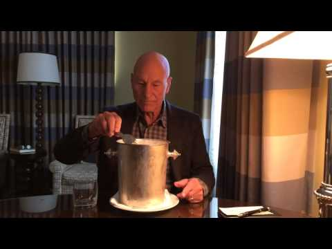 Patrick Stewart - Professor X - Ice Bucket Challenge - Captain Jean Luc Picard