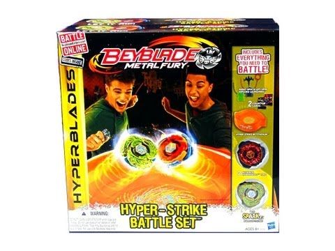 (CLOSED)Beyblade Metal Fury Hyperblades Hyper-Strike Battle Set Unboxing  + Giveaway