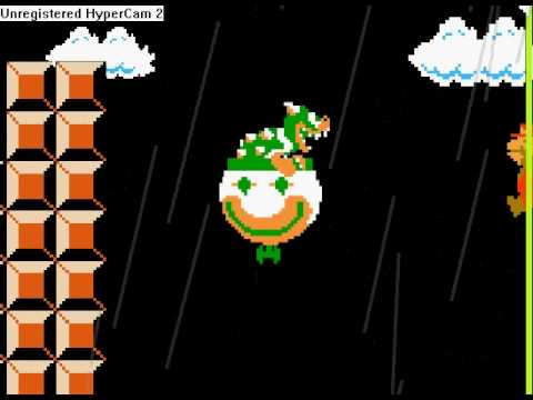 World 1-4 Mario Vs Bowser