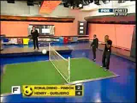 Thierry Henry En Futbol Para Todos Jugando Al Futbol Tenis (Argentina)