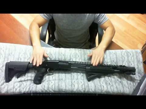 Mossberg 500 tactical set-up Home Defense Shotgun