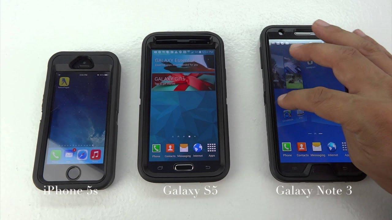 SAMSUNG GALAXY S5 VS IPHONE 5S YOUTUBE