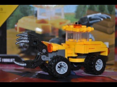 Собираем конструктор Строительная техника - Грузоподъемник/City Build - Forklift