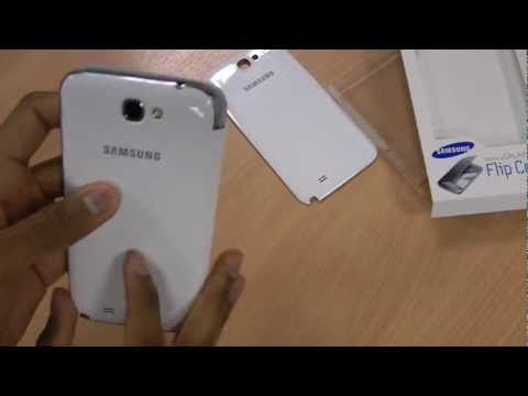 Official Samsung Galaxy Note 2 Flip Cover with NFC White Review