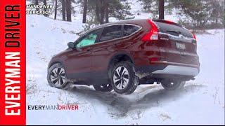 2015 Honda CR-V AWD SNOWY Off-Road Review (PART 1) on Everyman Driver