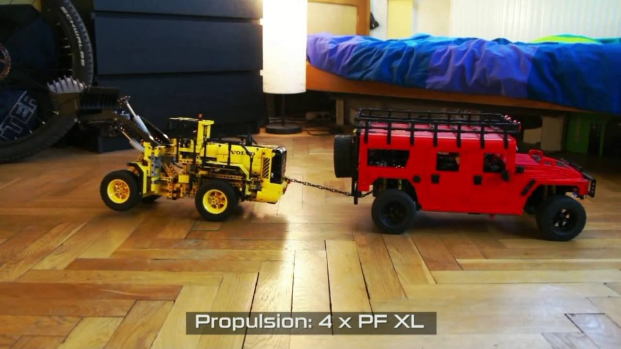 lego technic motorized hummer h1 wagon youtube. Black Bedroom Furniture Sets. Home Design Ideas