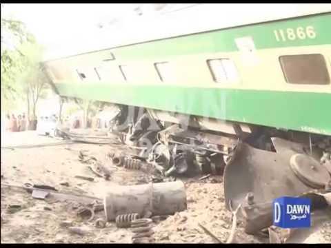 Exclusive footage of train crash near Multan