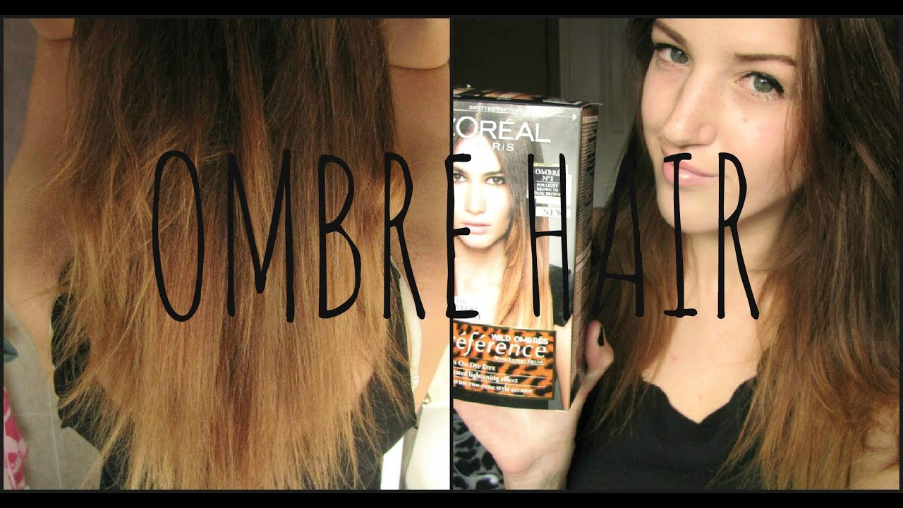 OMBRE HAIR Demo & Review | L'Oreal Preference Wild Ombre - YouTube