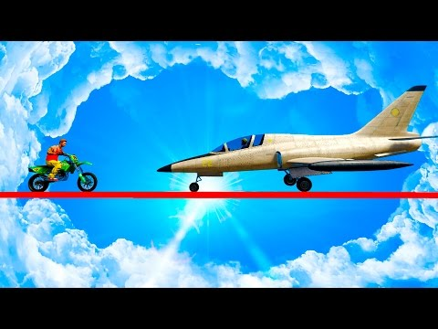 САМОЛЕТЫ ПРОТИВ БАЙКЕРОВ НА СМЕРТЕЛЬНОЙ ДОРОГЕ! (GTA 5 Смешные моменты)