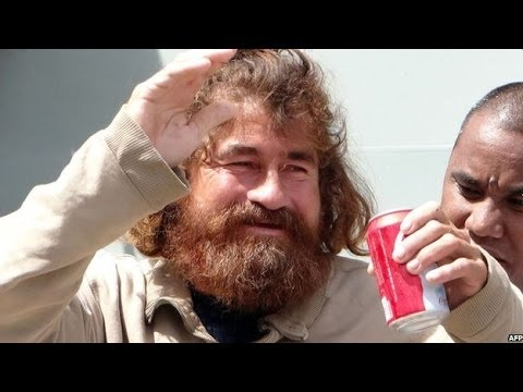 Video emerges of Pacific 'castaway' - BBC News