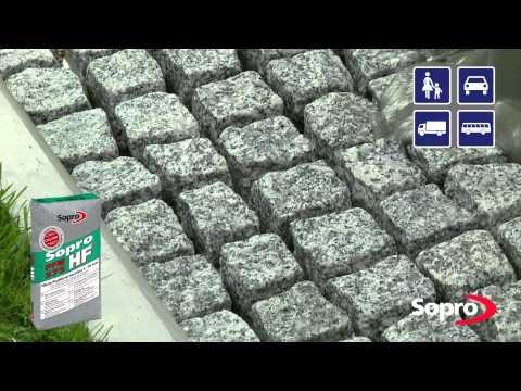 Sopro: Oberflächen Versiegelnde Verlegung Und Verfugung Von Pflaster- Und Plattenbelägen