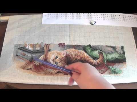 Кошачье семейство вышивка крестом 37