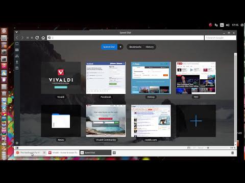 Vivaldi web browser on Ubuntu 15.04 linux