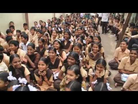 Interacting with slum school students!! Pure Happiness :)