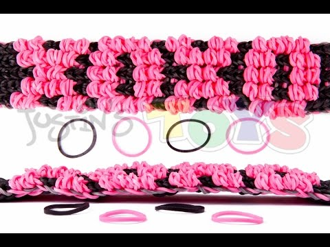 How to Make a Rainbow Loom Puffy Name Bracelet Tutorial - XOXO
