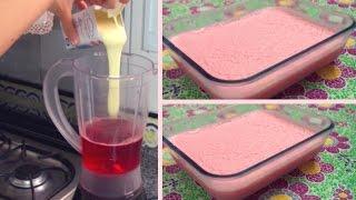Sobremesa Fácil: Gelatina de Morango com Leite Condensado