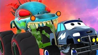 Haunted House Monster Truck Vs Monster Truck Dan | Truck Chase Videos