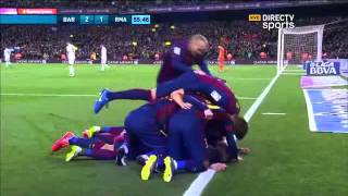 Barcelona 2 - 1 Real Madrid LIGA BBVA 2015 - Directv Sports