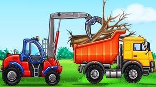 แม็คโคร รถตักดิน รถดั้ม รถบรรทุก แมคโครการ์ตูน Construction Dump Truck Cartoon