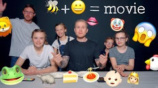 KIDS PIE THEIR DADS IN THE FACE - THE EMOJI GAME - PART 2