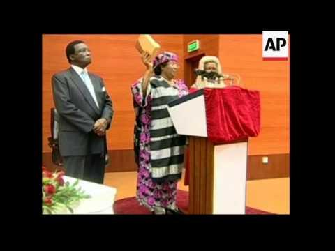 4:3 VP Joyce Banda sworn in as president following death of her predecessor