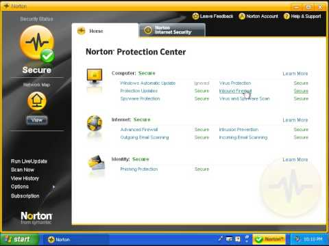 Using Norton Internet Security