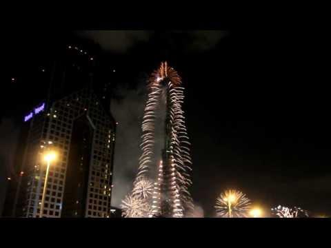 Най-голямата заря в света! Дубай - Нова година 2013г