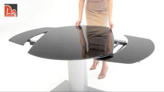 (0.66 MB) Modrest Obsidian Modern Black and Silver Extendable Dining Table Mp3