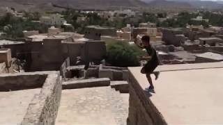Ahmed Al Yahyai, one of Oman's youngest parkour athletes, takes on Bahla Fort