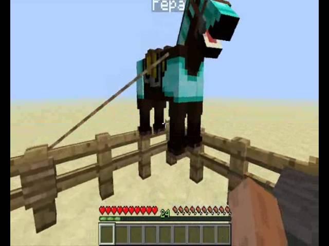 Minecraft 1.6.2 crafting + návod jak zkrotit koně