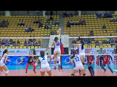 """Aby Maraño delivers the """"regalo"""" to take the first set over Iran!"""