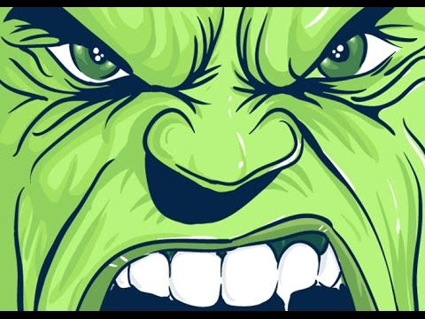 how to draw hulk face